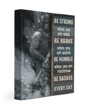 Be Strong When Weak Be Brave When Scared Veteran 11x14 Gallery Wrapped Canvas Prints thumbnail