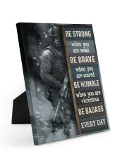 Be Strong When Weak Be Brave When Scared Veteran 8x10 Easel-Back Gallery Wrapped Canvas thumbnail