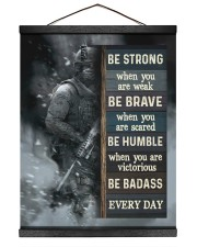 Be Strong When Weak Be Brave When Scared Veteran 16x20 Black Hanging Canvas thumbnail