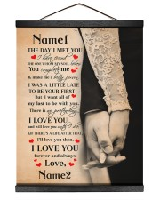 The Day I Met You I Have Found The One 16x20 Black Hanging Canvas thumbnail