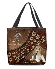 Never Walk Alone Beagles All-over Tote front