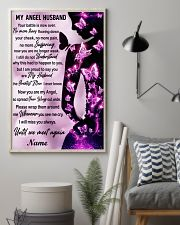 Family Gift My Angel Husband I Will Miss Your Battle Is Now Over Butterfly 24x36 Poster lifestyle-poster-1
