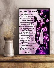Family Gift My Angel Husband I Will Miss Your Battle Is Now Over Butterfly 24x36 Poster lifestyle-poster-3