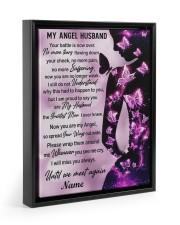 My Angel Husband I Will Miss You Always Floating Framed Canvas Prints Black tile