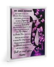 My Angel Husband I Will Miss You Always Floating Framed Canvas Prints White tile