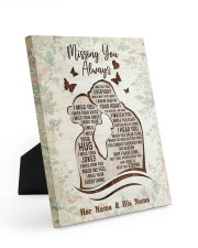 Missing You Always I Watch You Every Day 8x10 Easel-Back Gallery Wrapped Canvas thumbnail