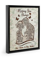 Missing You Always I Watch You Every Day 11x14 Black Floating Framed Canvas Prints thumbnail
