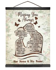 Missing You Always I Watch You Every Day 16x20 Black Hanging Canvas thumbnail