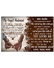 Memorial Gift My Angel Husband Love Your Wife 36x24 Poster front