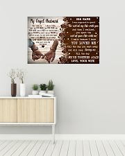 Memorial Gift My Angel Husband Love Your Wife 36x24 Poster poster-landscape-36x24-lifestyle-01