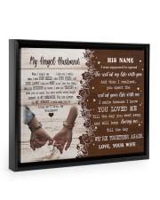Memorial Gift My Angel Husband Love Your Wife Floating Framed Canvas Prints Black tile