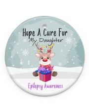 Hope A Cure For Epilepsy Awareness Ornament Circle Ornament (Porcelain) tile