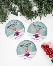 Hope A Cure For Epilepsy Awareness Ornament Circle ornament - 3 pieces (porcelain) aos-cricle-ornament-3-pieces-porcelain-lifestyles-01
