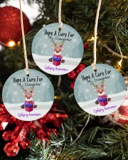 Hope A Cure For Epilepsy Awareness Ornament Circle ornament - 3 pieces (porcelain) aos-cricle-ornament-3-pieces-porcelain-lifestyles-02