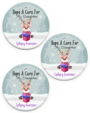 Hope A Cure For Epilepsy Awareness Ornament Circle ornament - 3 pieces (porcelain) front