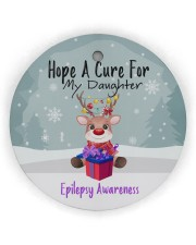 Hope A Cure For Epilepsy Awareness Ornament Circle ornament - single (wood) thumbnail
