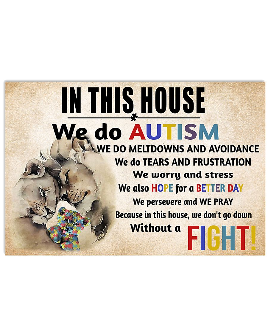 In This House We Do Autism 17x11 Poster
