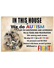 In This House We Do Autism 17x11 Poster front