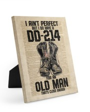 I Ain't Perfect But I Do Have A DD-214 Easel-Back Gallery Wrapped Canvas tile