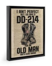 I Ain't Perfect But I Do Have A DD-214 Floating Framed Canvas Prints Black tile