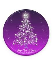 Hope For  Cure Circle Ornament Circle Ornament (Porcelain) tile
