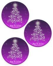 Hope For  Cure Circle Ornament Circle ornament - 3 pieces (porcelain) front