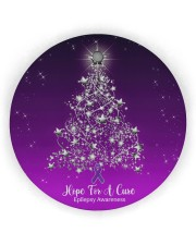 Hope For  Cure Circle Ornament Circle Ornament (Wood tile