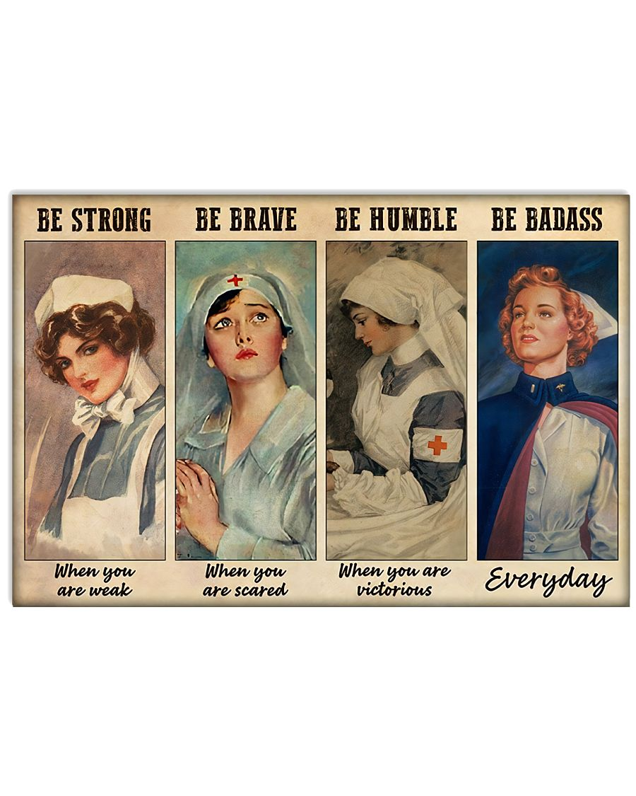 Be Strong When You Are Weak Be Brave When Scared 17x11 Poster
