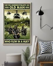 Never Underestimate An Old Man Who Flew In A Huey 11x17 Poster lifestyle-poster-1