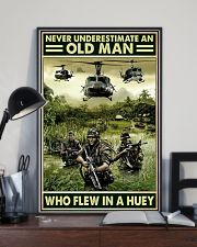 Never Underestimate An Old Man Who Flew In A Huey 11x17 Poster lifestyle-poster-2