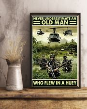 Never Underestimate An Old Man Who Flew In A Huey 11x17 Poster lifestyle-poster-3