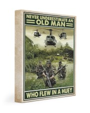 Never Underestimate An Old Man Who Flew In A Huey 11x14 Gallery Wrapped Canvas Prints thumbnail