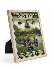Never Underestimate An Old Man Who Flew In A Huey 8x10 Easel-Back Gallery Wrapped Canvas thumbnail
