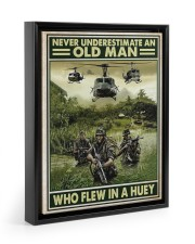 Never Underestimate An Old Man Who Flew In A Huey 11x14 Black Floating Framed Canvas Prints thumbnail