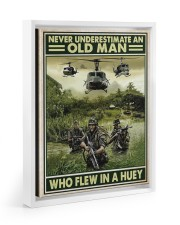 Never Underestimate An Old Man Who Flew In A Huey 11x14 White Floating Framed Canvas Prints thumbnail