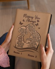 Missing You Always I Am There to Keep You Strong Medium - Leather Notebook aos-medium-leather-notebook-lifestyle-front-07