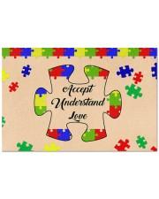 """Autism Awareness Gift Accept Understand Love Doormat 22.5"""" x 15""""  front"""