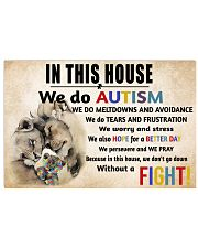 In This House We Do Autism 36x24 Poster front