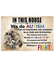 In This House We Do Autism Horizontal Poster tile