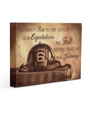 We Don't Rise To The Level Of Our Expectations  14x11 Gallery Wrapped Canvas Prints thumbnail