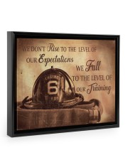 We Don't Rise To The Level Of Our Expectations  14x11 Black Floating Framed Canvas Prints thumbnail