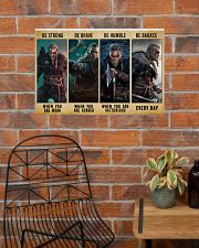 Viking Be Strong Be Brave Be Humble Be Badass 24x16 Poster poster-landscape-24x16-lifestyle-24
