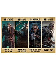 Viking Be Strong Be Brave Be Humble Be Badass Horizontal Poster tile