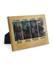 Viking Be Strong Be Brave Be Humble Be Badass 10x8 Easel-Back Gallery Wrapped Canvas thumbnail