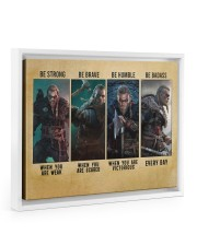 Viking Be Strong Be Brave Be Humble Be Badass 14x11 White Floating Framed Canvas Prints thumbnail