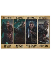 Viking Be Strong Be Brave Be Humble Be Badass 250 Piece Puzzle (horizontal) thumbnail