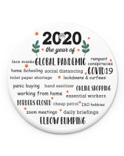 2020 The Year Of Global Pandemic Circle Ornament  Circle Ornament (Porcelain) tile