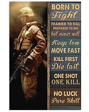 Born To Fight Trained To Kill Vertical Poster tile