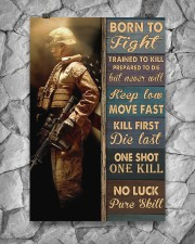 Born To Fight Trained To Kill 24x36 Poster aos-poster-portrait-24x36-lifestyle-13