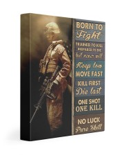Born To Fight Trained To Kill 11x14 Gallery Wrapped Canvas Prints thumbnail